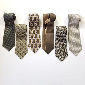 Other - 100% Silk Neck Tie Bundle